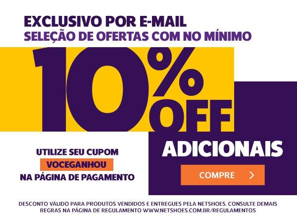 0f9d0d88f41bb Promoção Netshoes: Domingo com cupom exclusivo pra você! <3